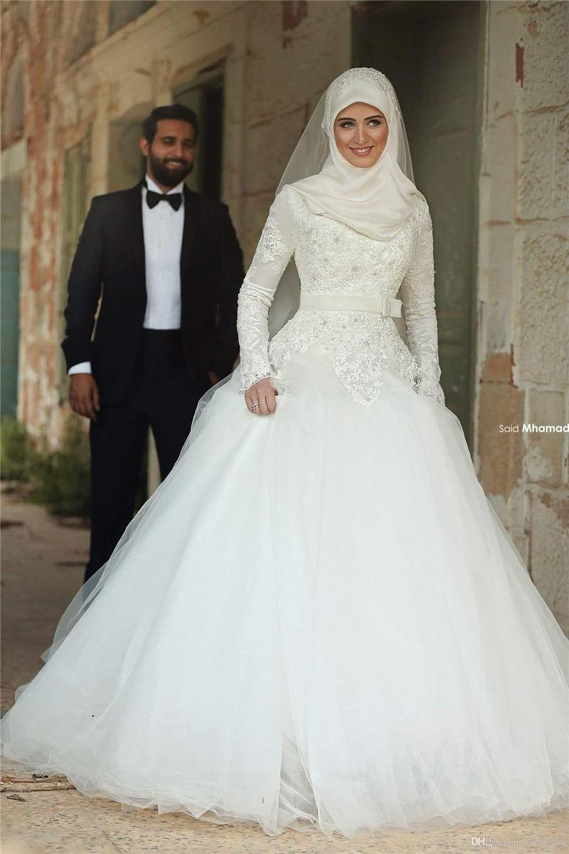 Desain kebaya muslim pengantin