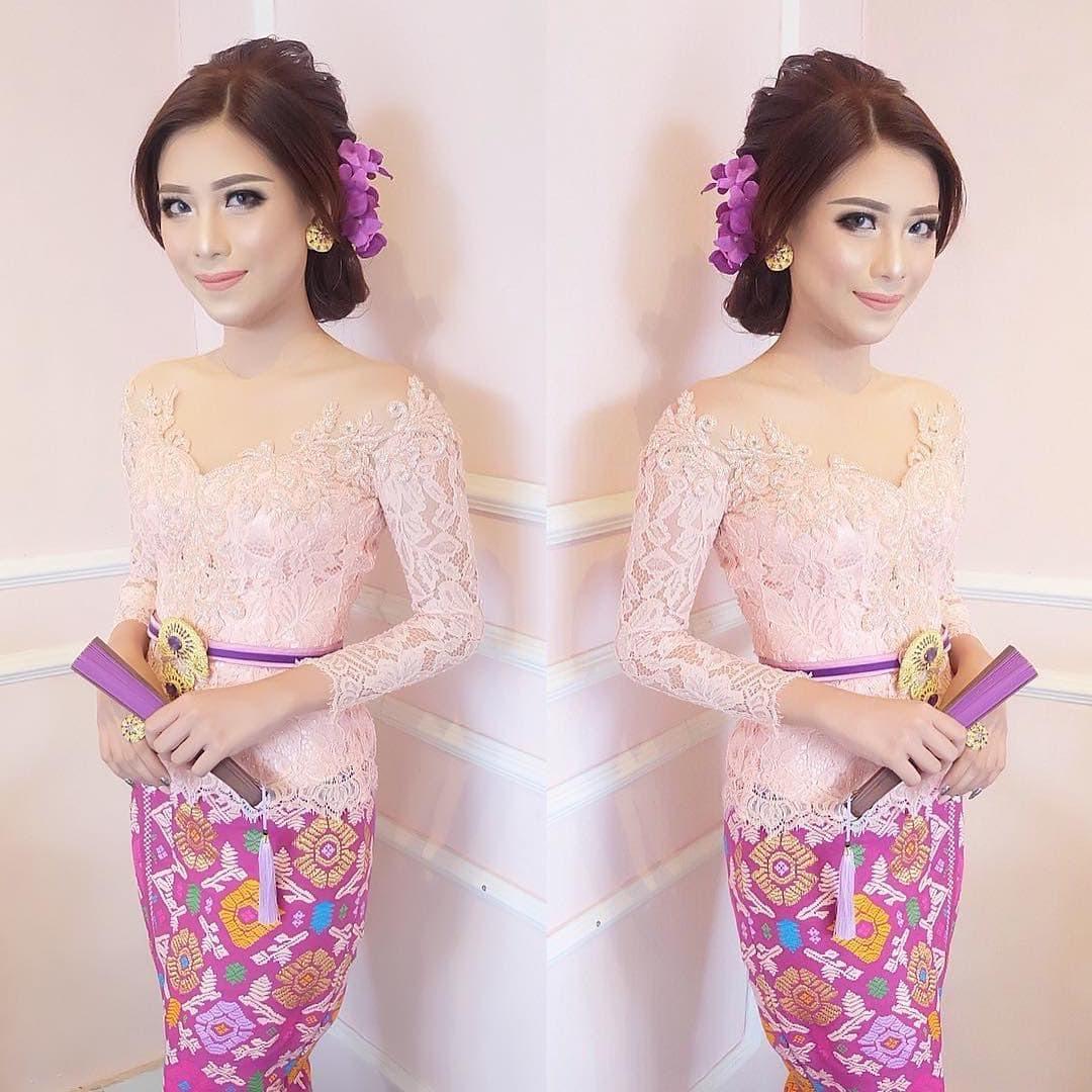 Model Kebaya Bali Lengan Panjang