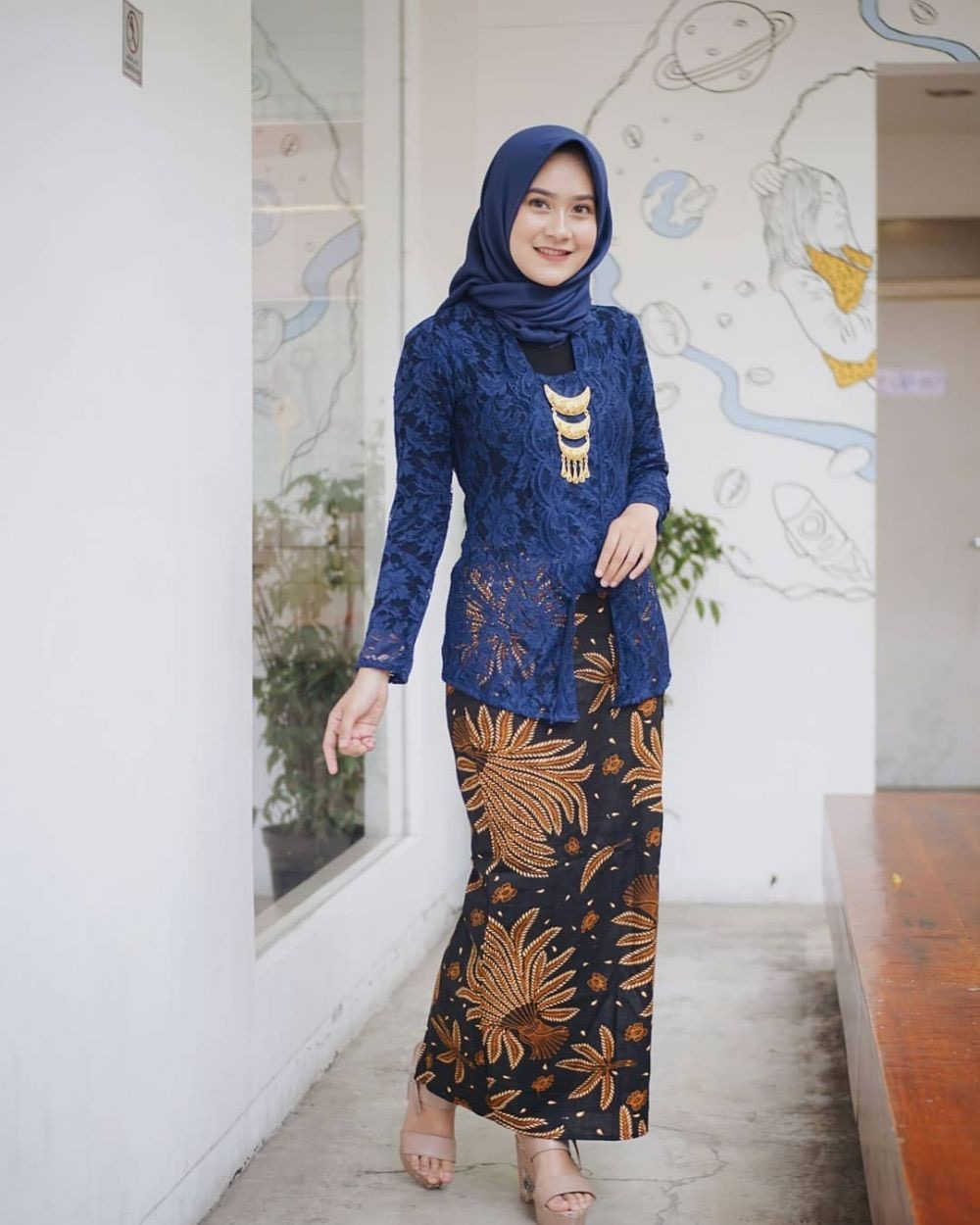 Model Kebaya Muslim Brokat