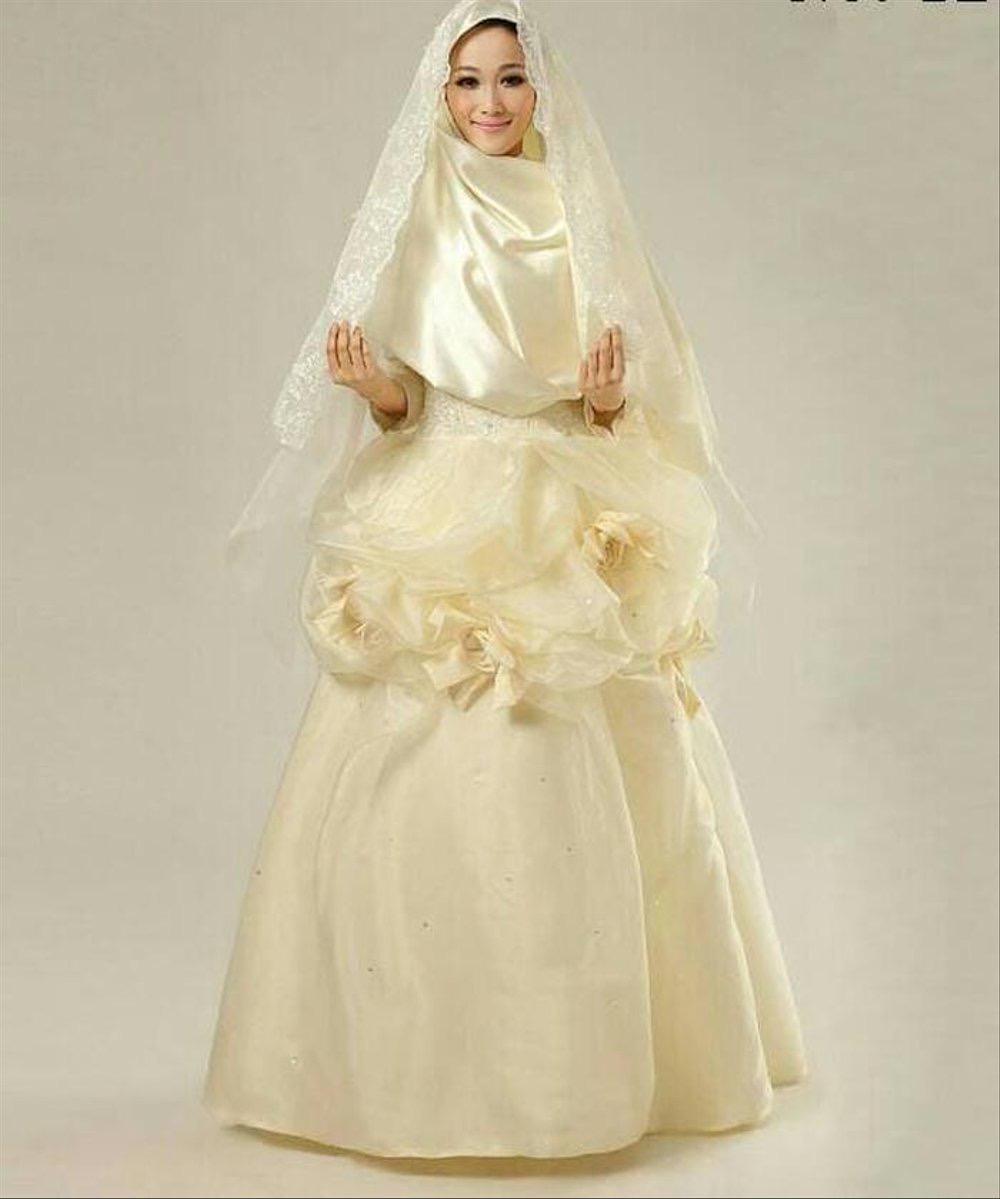 kebaya pengantin syari mewah