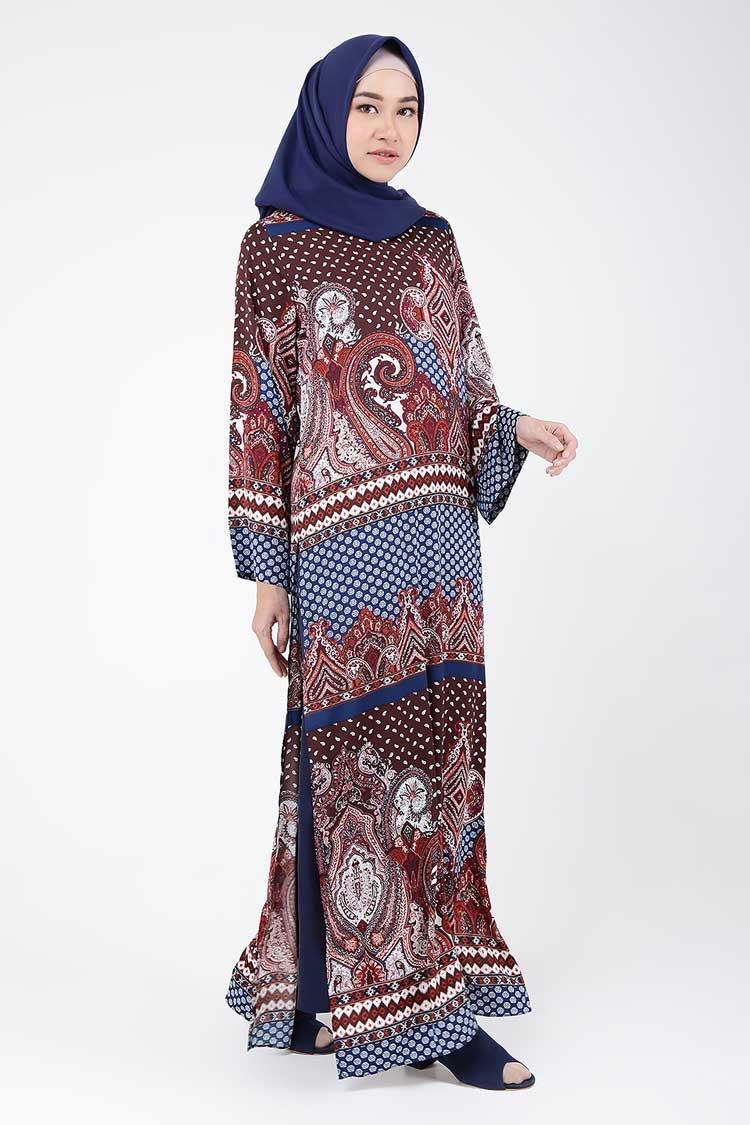 Abaya gamis batik tipe motif kombinasi