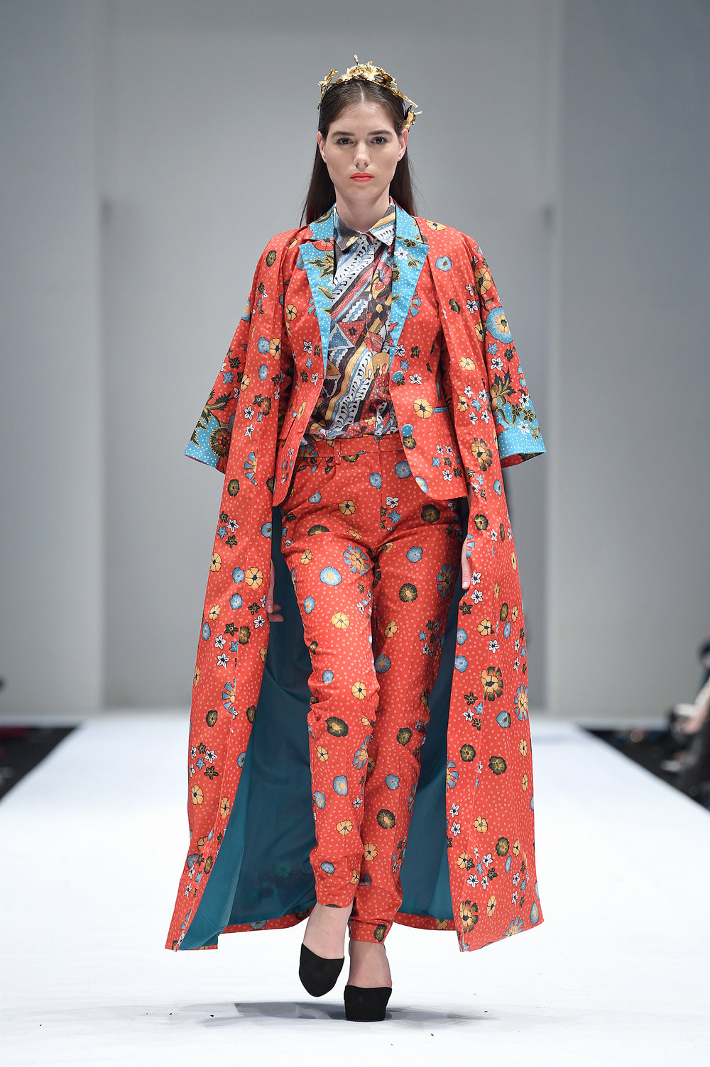 Baju batik colourfull dengan crape