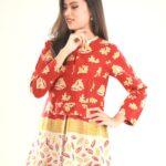 Baju batik kerja dress selutut santai