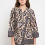 Baju batik kerja model trendy