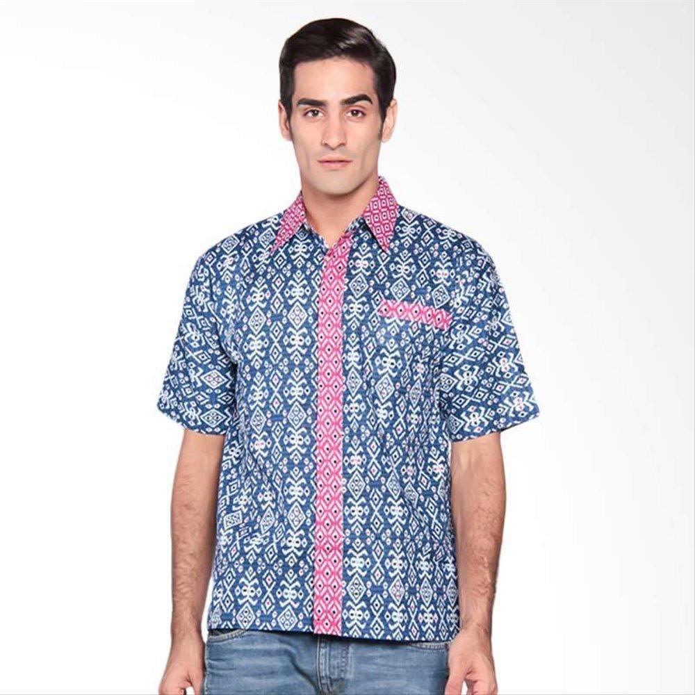 Baju batik pria kemeja simpel