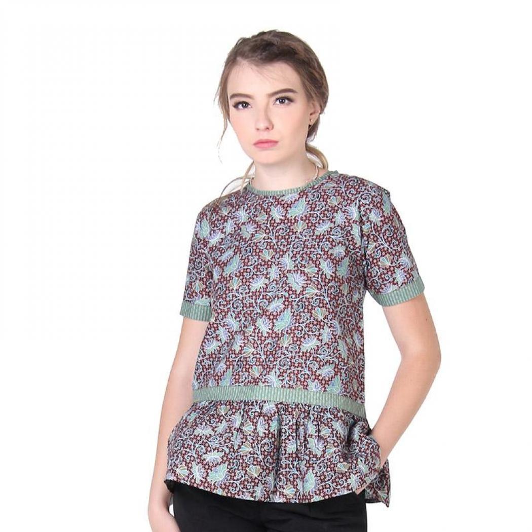 Baju batik untuk kerja sederhana cantik