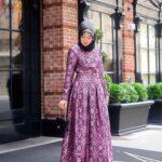 Baju gamis batik motif matahari diamond