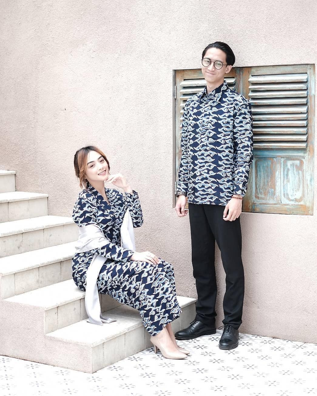 Batik Couple Long Dress