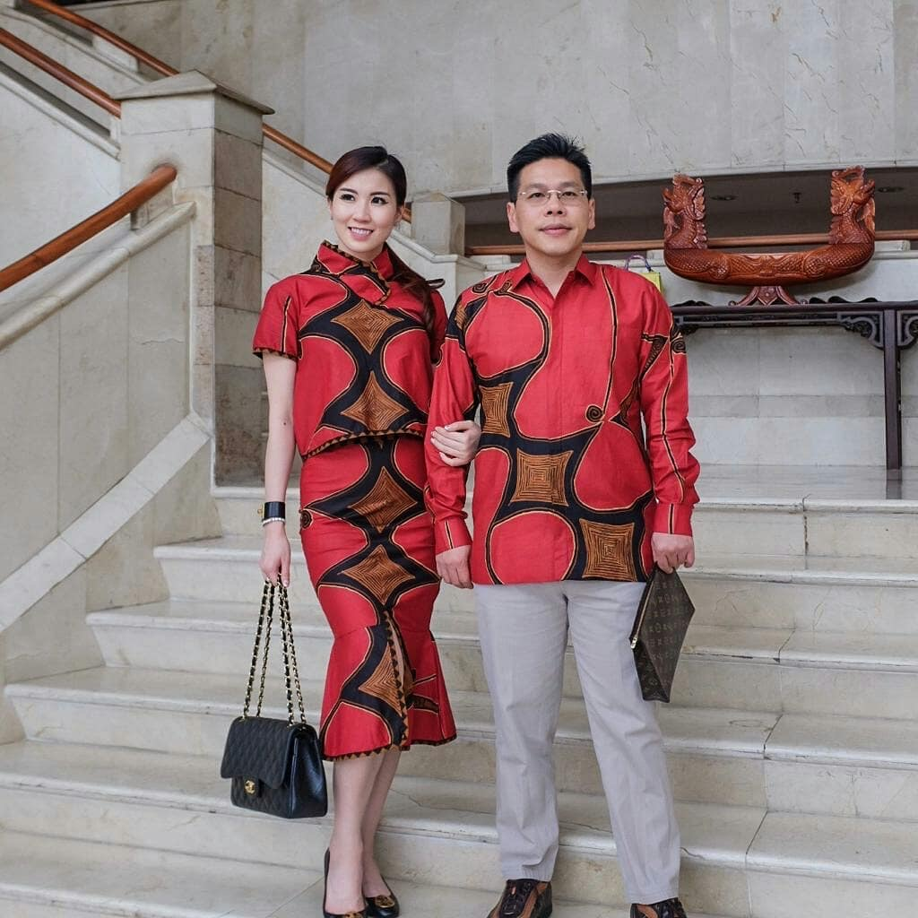 Batik Couple Motif Trapesium