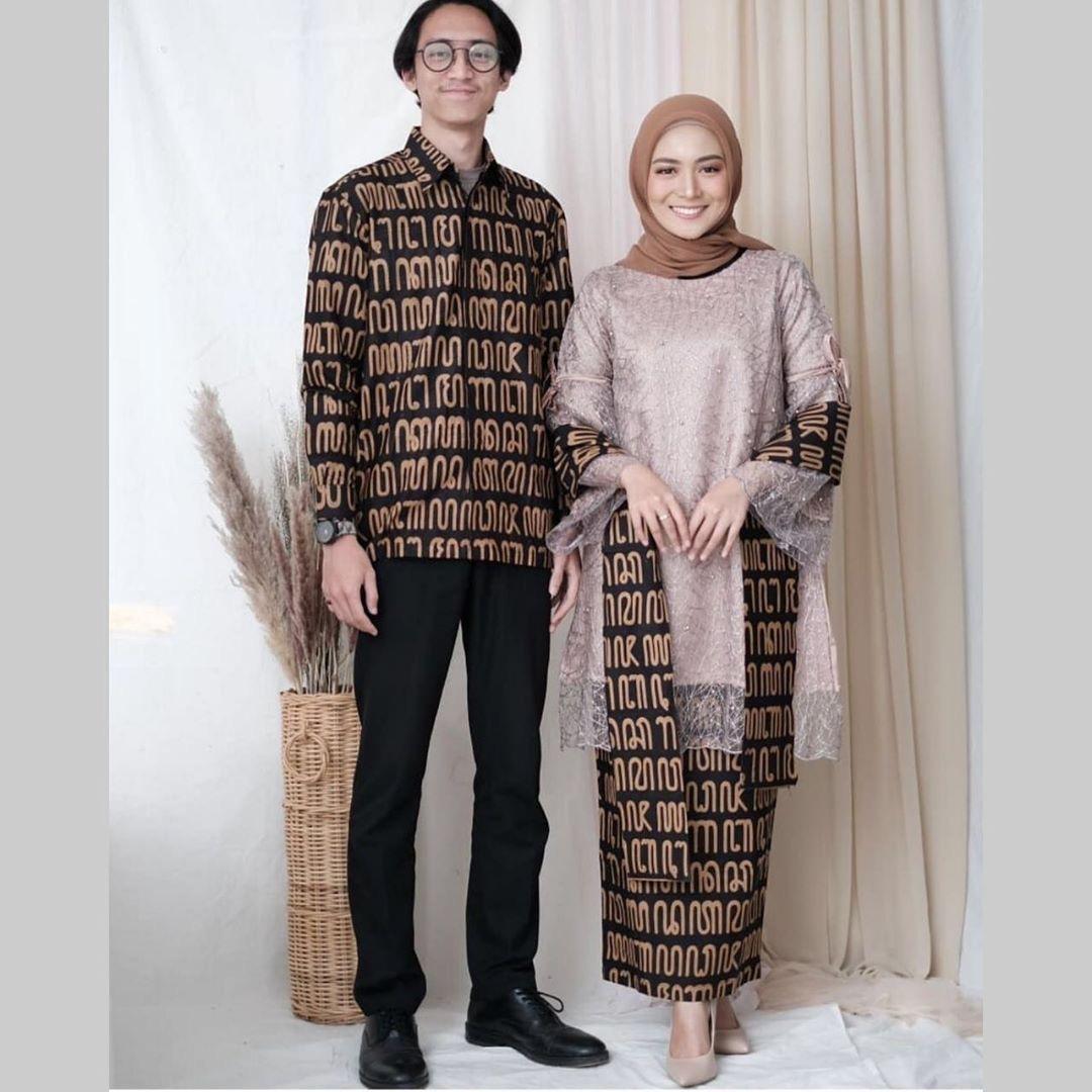 Batik Sarimbit Motif Aksara Jawa
