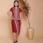 Batik kimono bawahan asimetris
