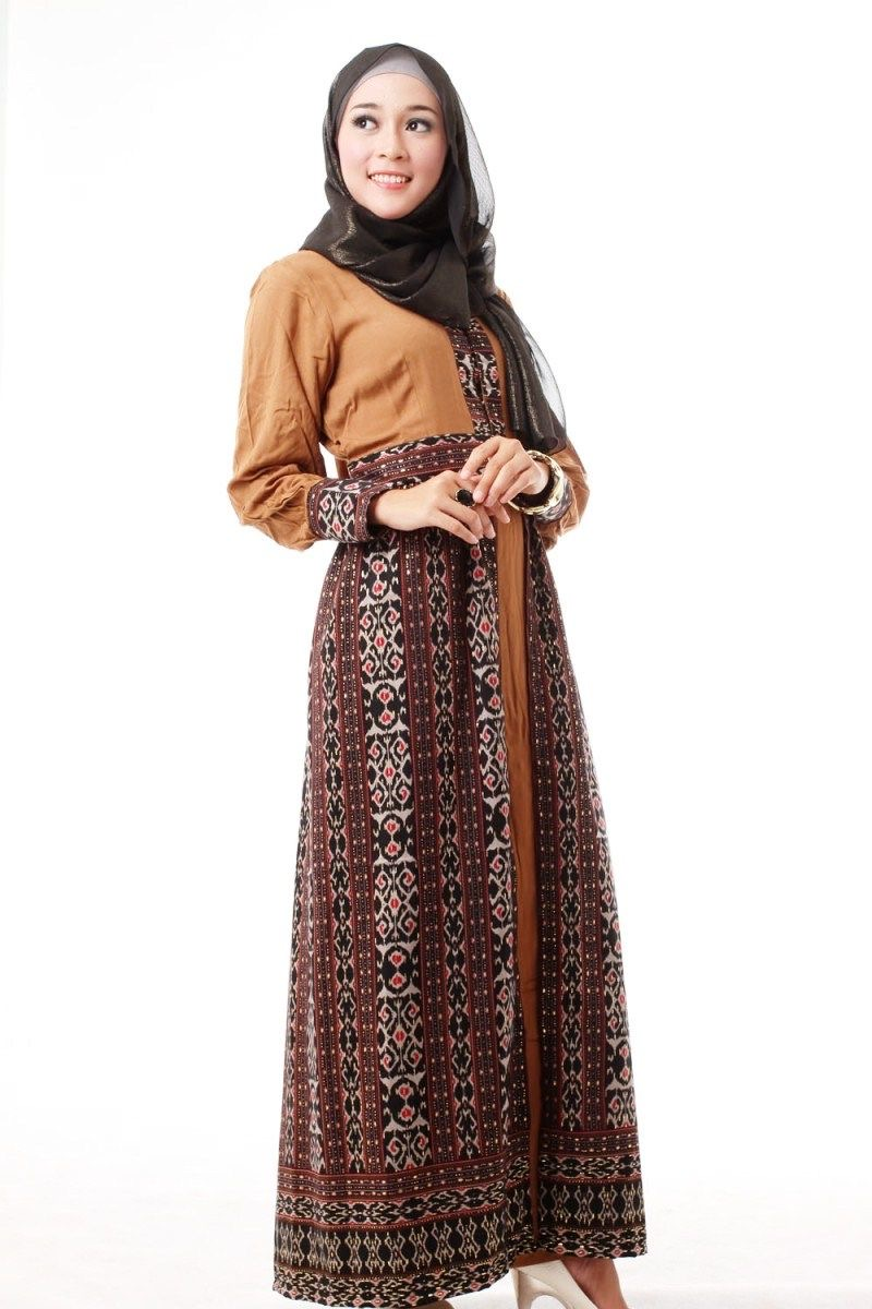 Dress batik simple motif etnik