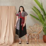 Dress batik tunik asimetris