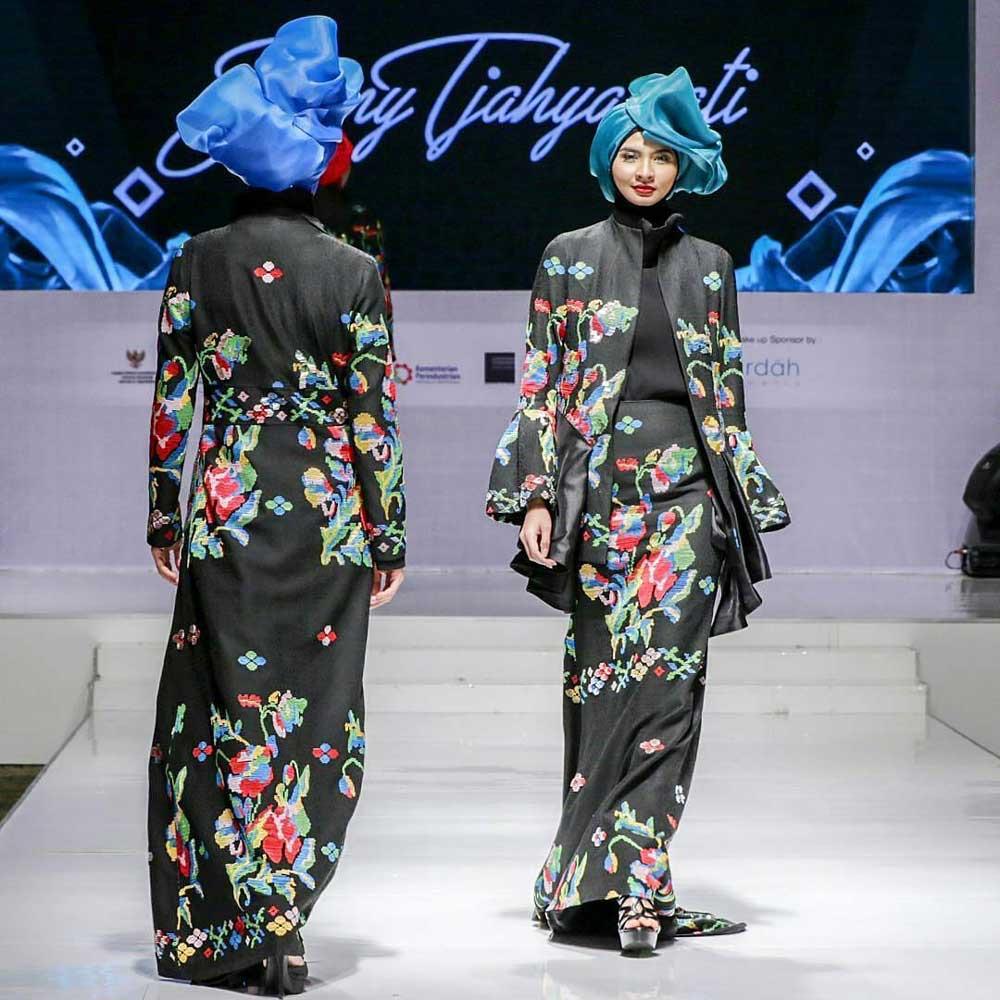 Gamis batik cantik model blazer