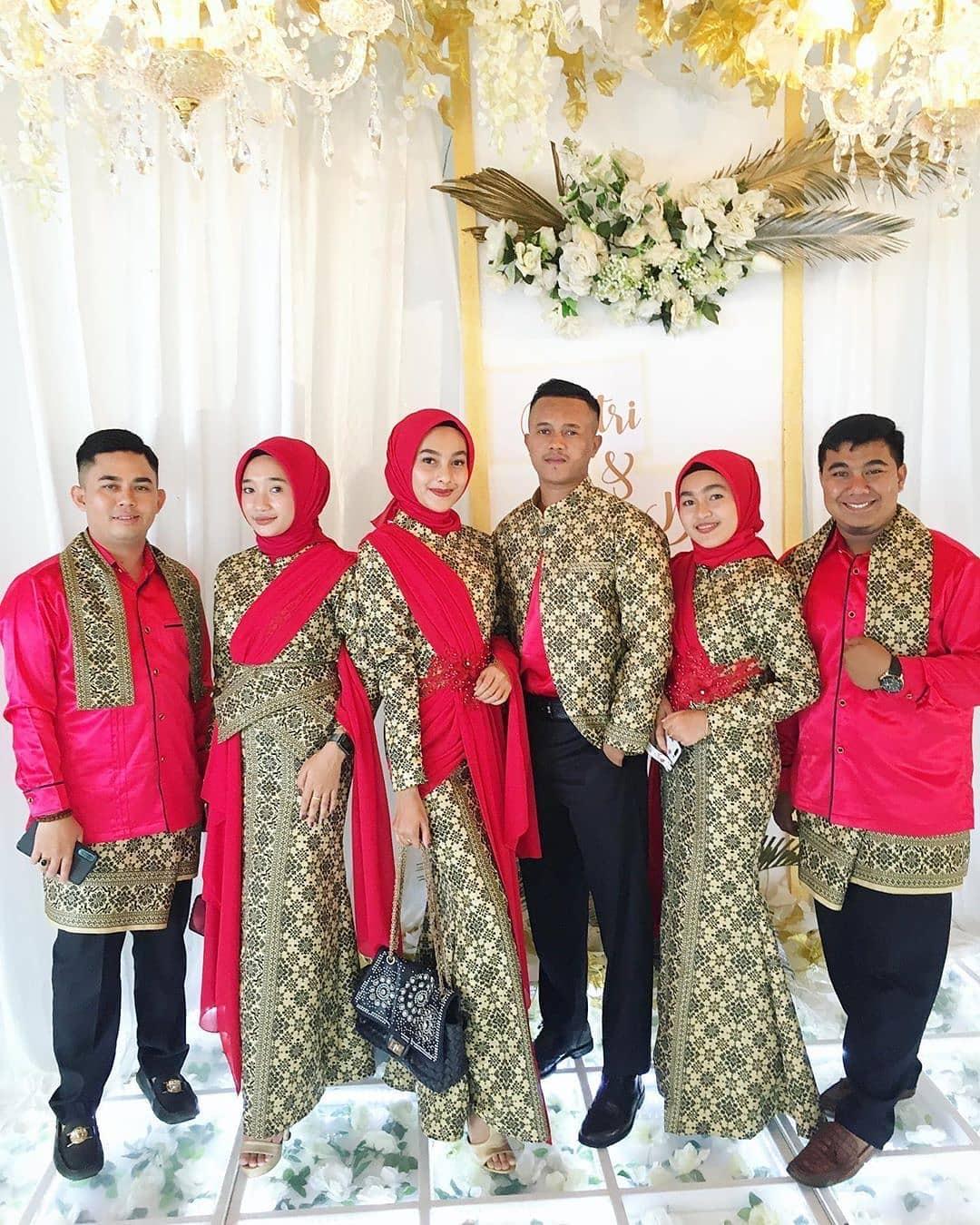 Gamis batik cap modern