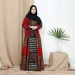 Gamis batik tambal berbagai motif