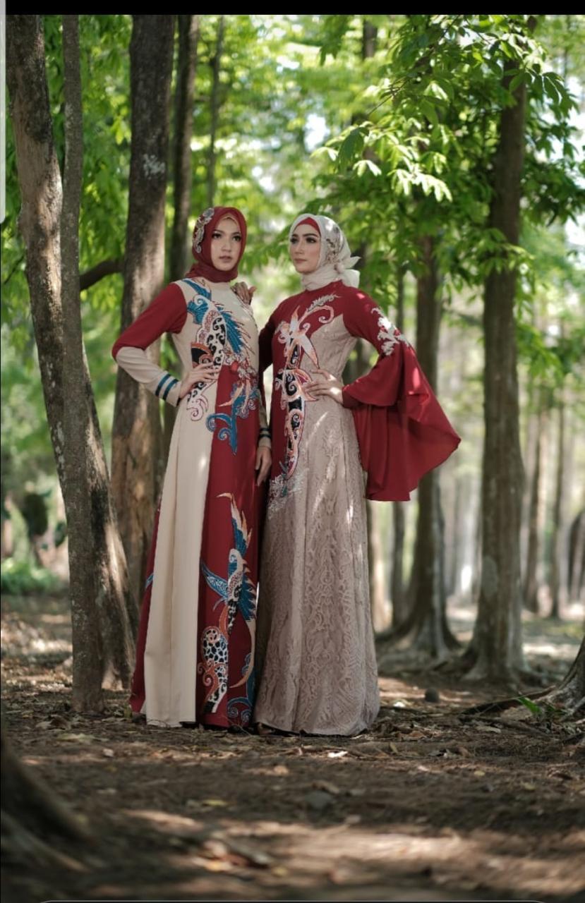Gamis batik wanita untuk kondangan