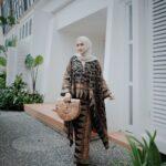 Gamis motif batik tumpal