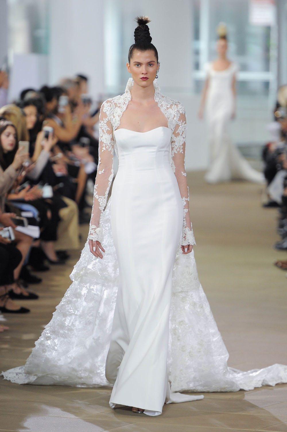 Gaun pernikahan dengan kardigan