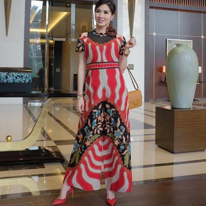Jumpsuit batik floral modern