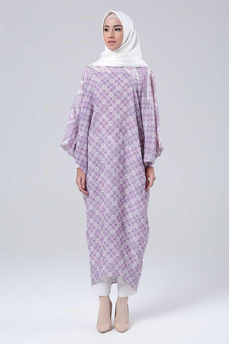 Kaftan batik printed