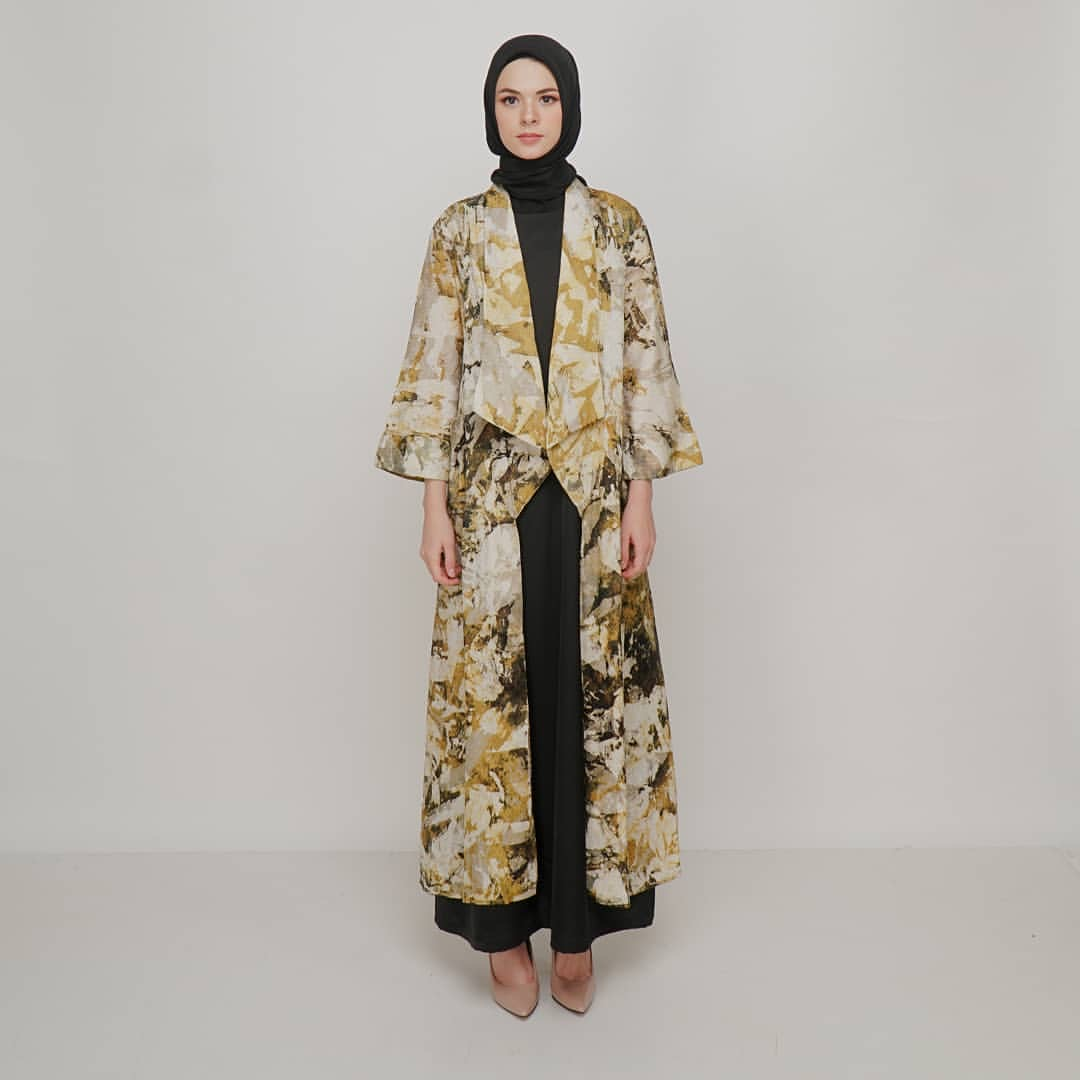 Long cardigan batik celup
