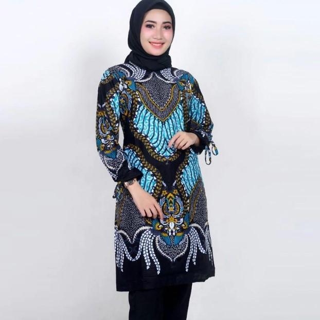 Model Baju Batik Kerja Wanita Muslim