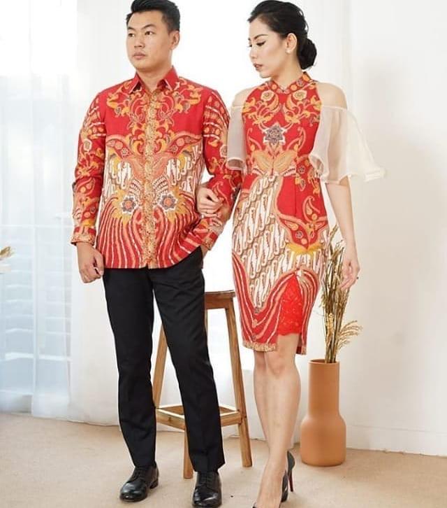 Model Batik Couple Renda