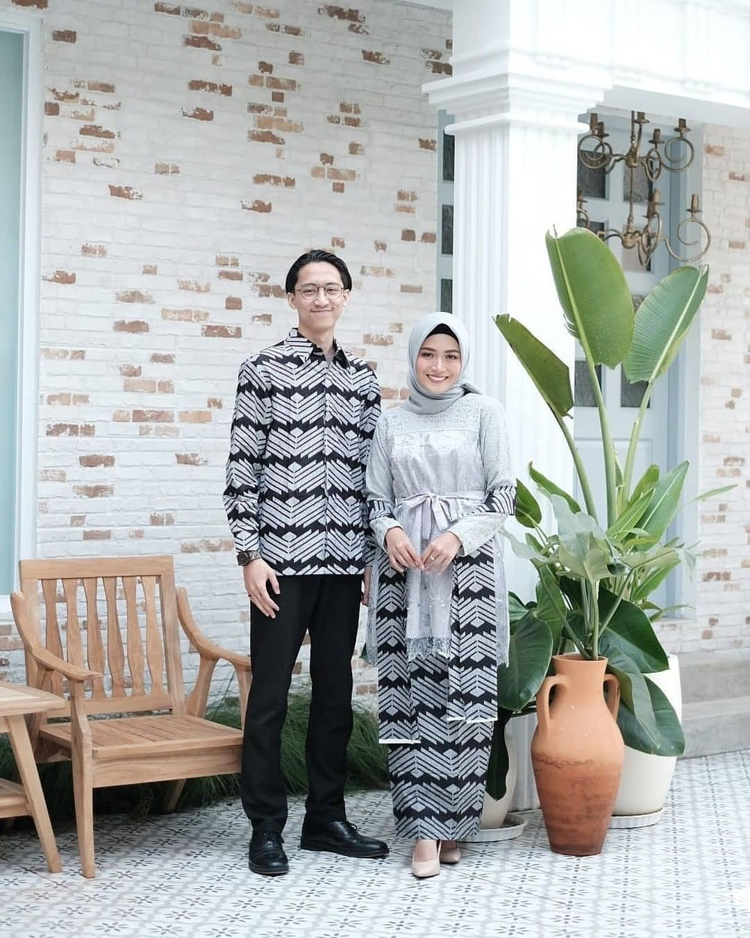 Model Batik Couple Zigzag