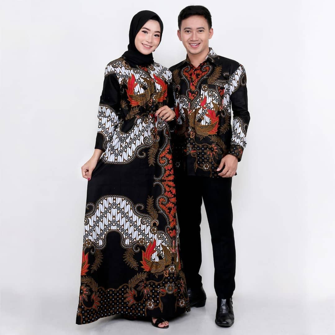 Model Batik Sarimbit Gamis