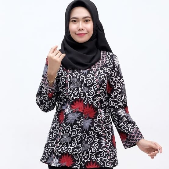 Model Tunik Batik Kasual