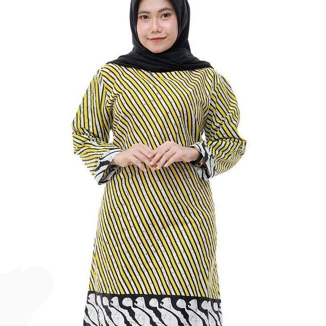 Model Tunik Batik Kerja