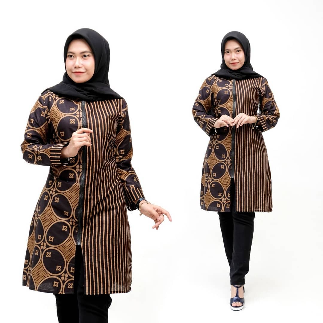 Model Tunik Batik Modern