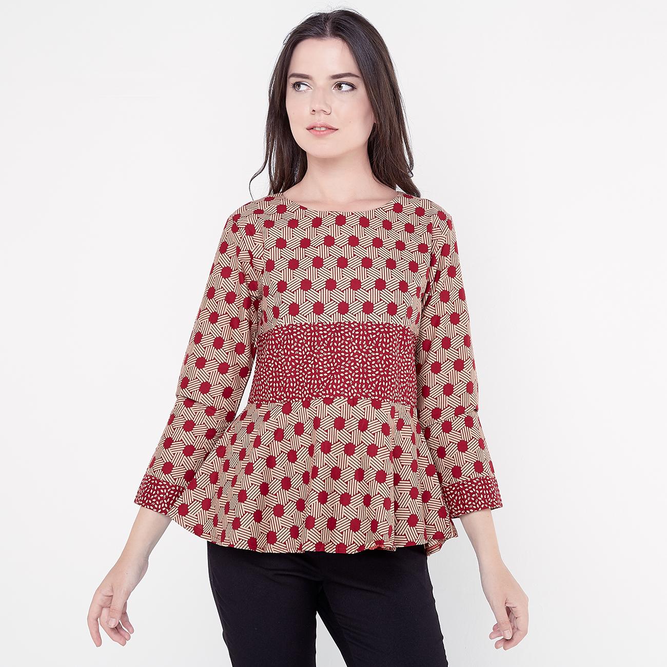 Model baju atasan batik untuk pinggul besar