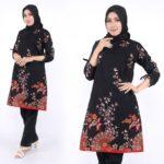 Model baju atasan batik warna ombre