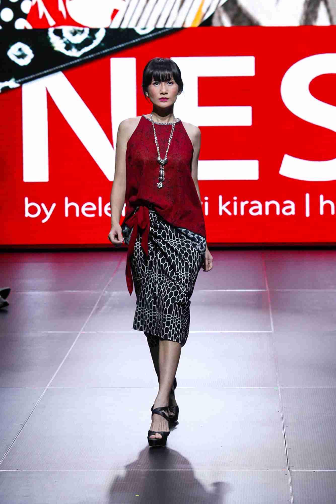 Model baju batik casual polos
