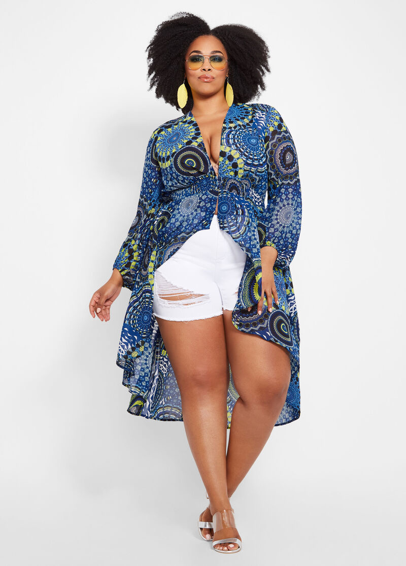 Model baju batik crop tee