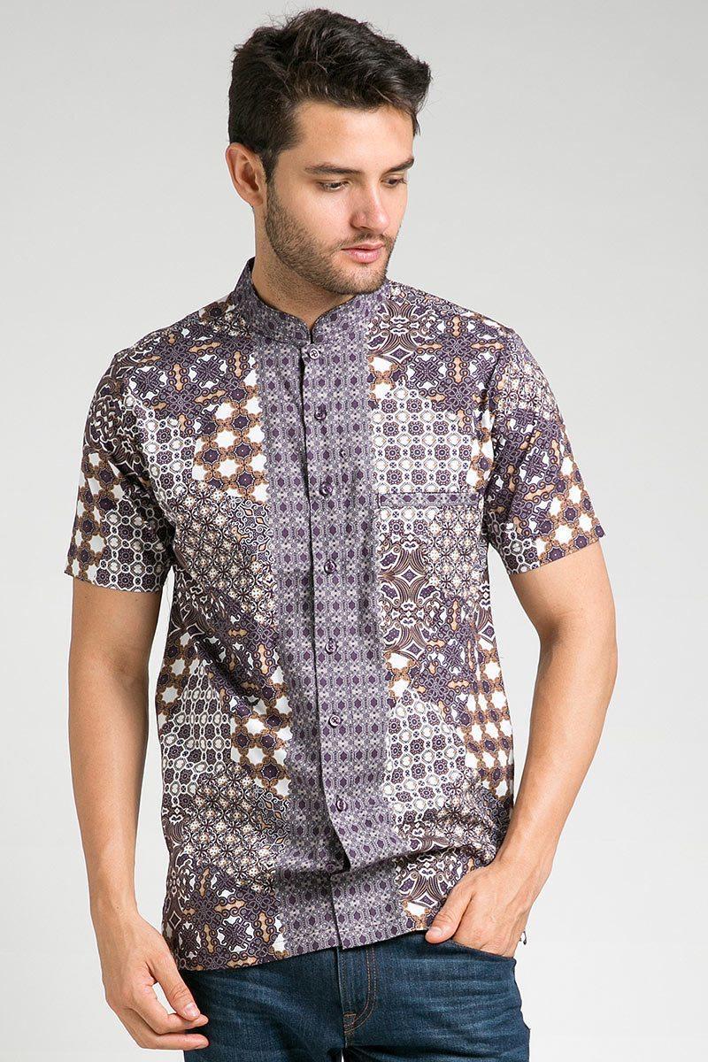 Model baju batik kerah berdiri