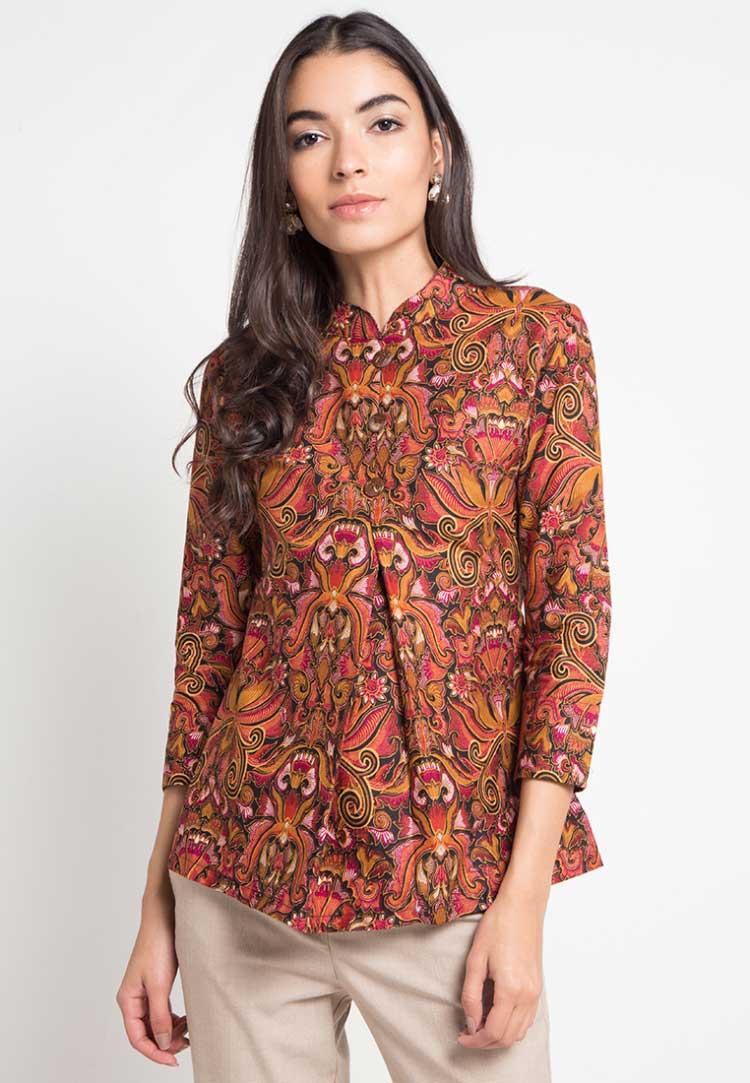 Model batik kerja dress elegan