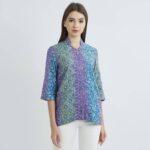 Model baju batik kerja motif jarang
