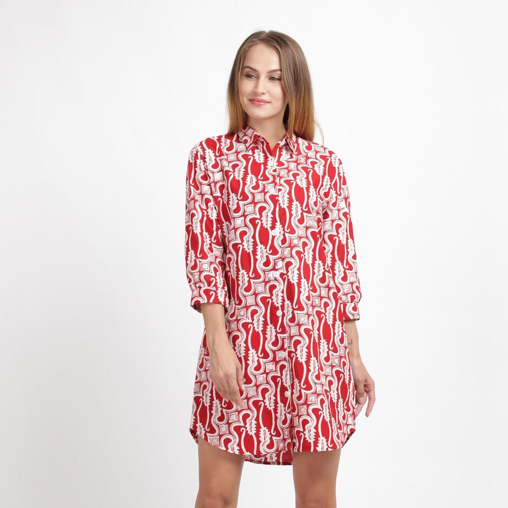 Model baju batik kerja motif parang rusak
