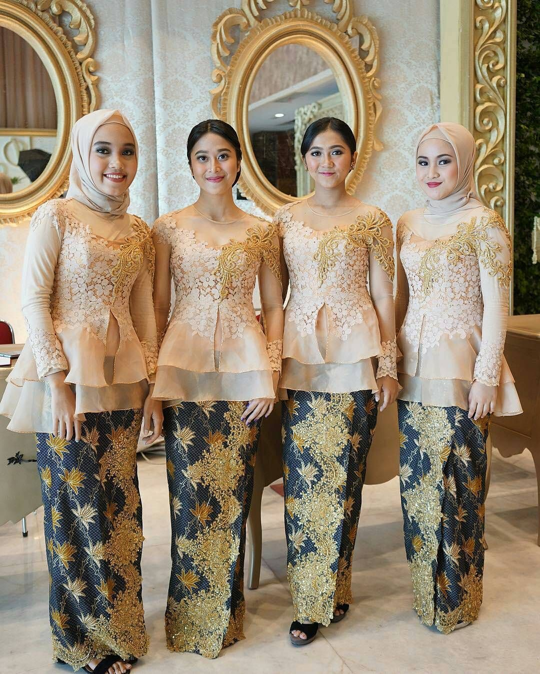 Model baju batik kombinasi layer