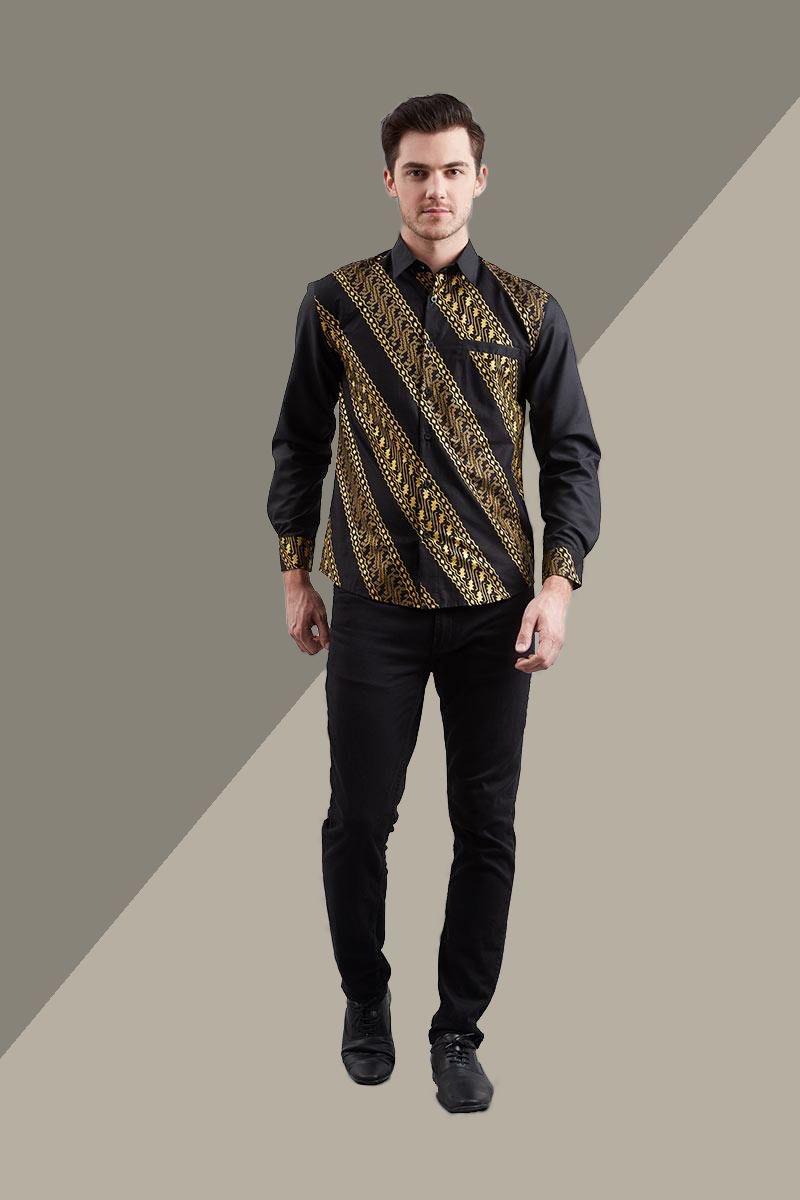 Model baju batik lengan panjang untuk lebaran