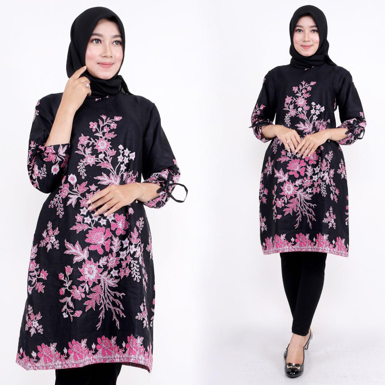 Model baju batik modern motif floral