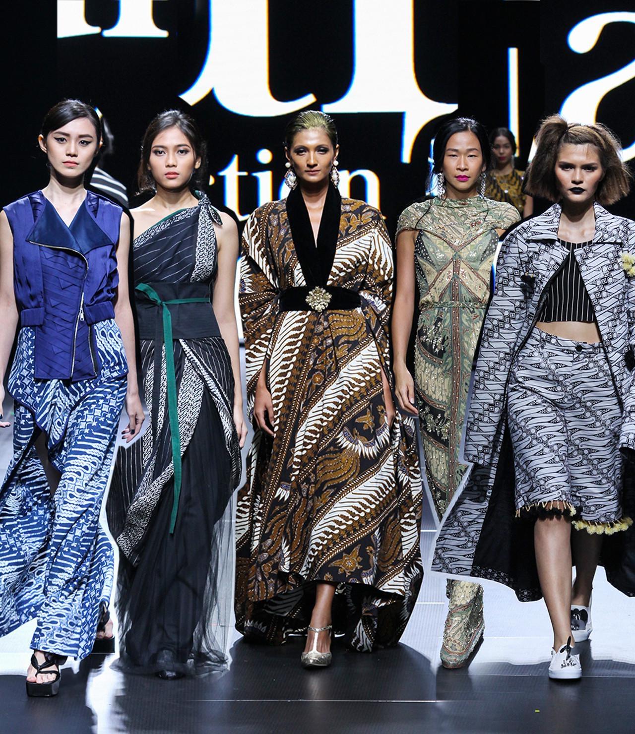 Model baju batik modern panjang