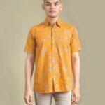 Model baju batik motif floral