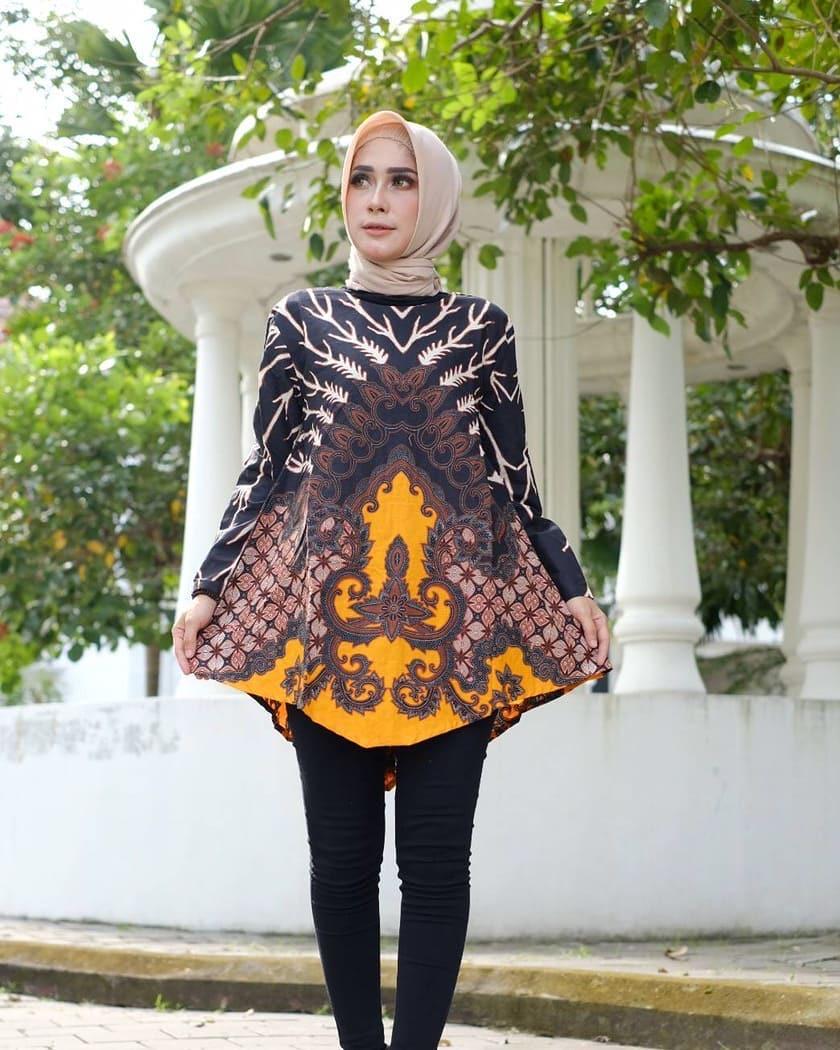 Model baju batik muslim tunik