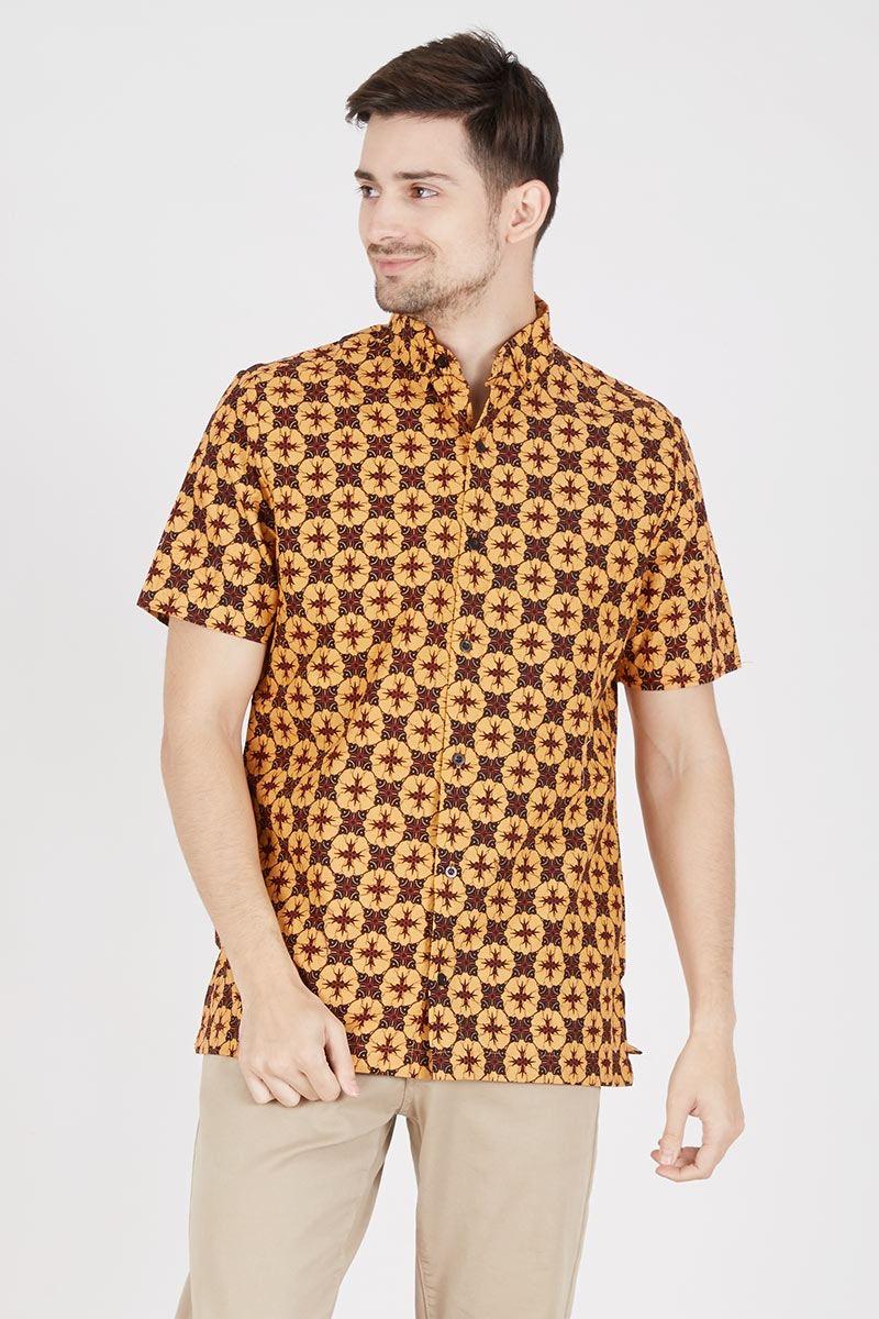 Model baju batik pria kerah tegak chinesse