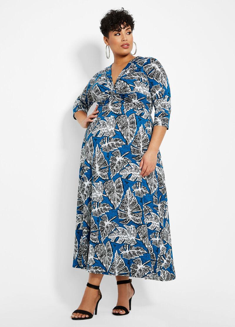 Model baju batik untuk wanita gemuk longdress