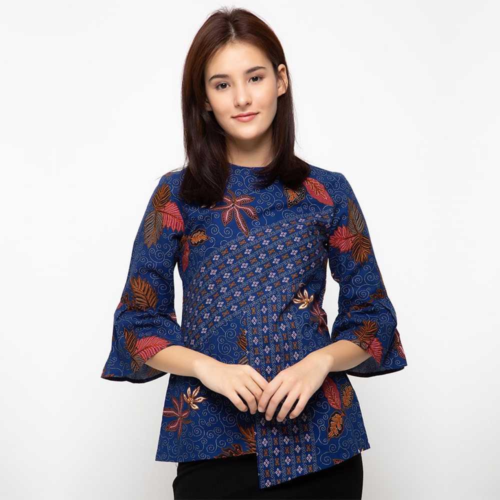 Model batik kerja blouse cantik anggun